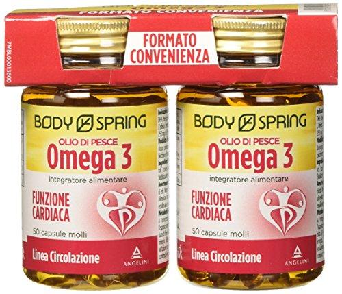 Body Spring Bipack Omega 3 (Olio di Pesce) Capsule Molli - 100 capsule