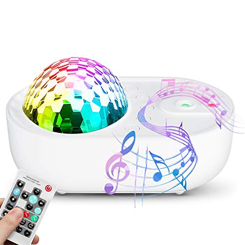 Night Light Projector for Kids, ABEDOE LED Ocean Wave Star Projector with Remote Control for Baby Bedroom Game Rooms Home Theatre Night Light Ambiance with Bluetooth Music Speaker