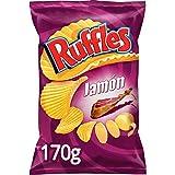 Ruffles - Patatas Fritas con Sabor a Jamón - 170 g