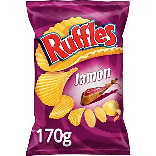 Ruffles - Kartoffelchips, geriffelt Schinken-Geschmack