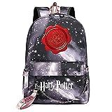 Mochila de Ocio de Hogwarts, Mochila Harry Galaxy Gray Galaxy, con Mochila de Interfaz de Carga USB style-13