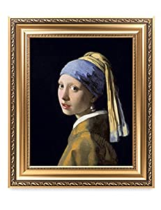DECORARTS - Girl with A Pearl Earring by Johannes Vermeer. The World Classic Art Reproductions. Giclee Print with Matching Museum Frame, 16x20, Finished Size: 22x26 by Decor Arts International Corp