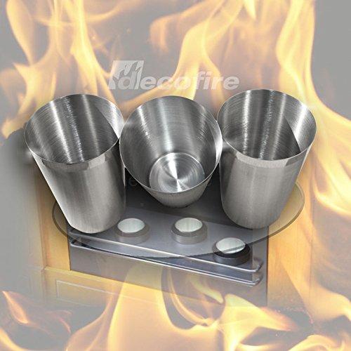 3er Set Longlife Brenndosen für Gelkamine und Biokamine