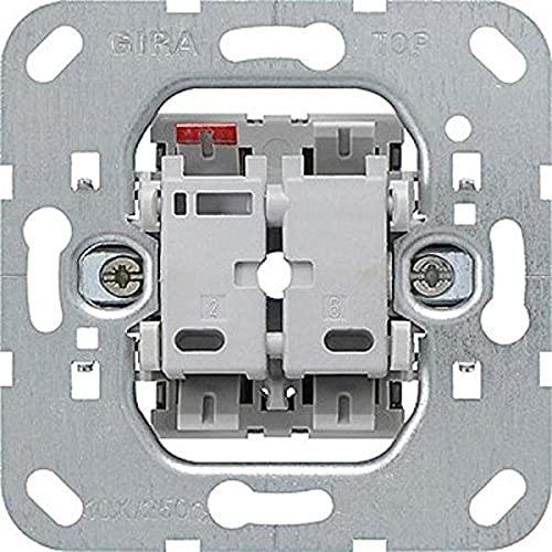 Gira 012600 Tastschalter Wechsel Einsatz,silber