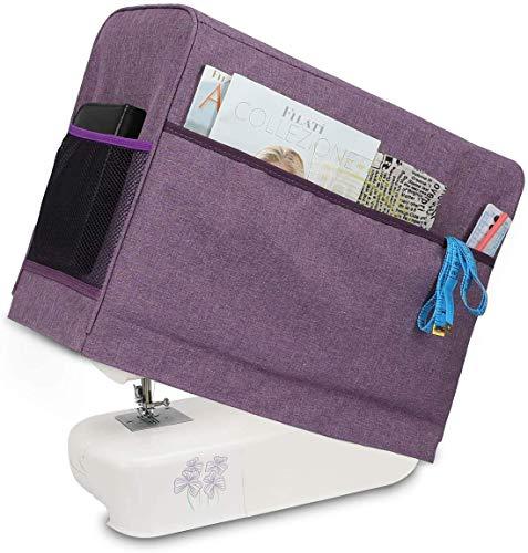 JOZEA - Funda protectora para máquina de coser, cubierta antipolvo para máquinas de coser y accesorios (apta para Brother y Singer)