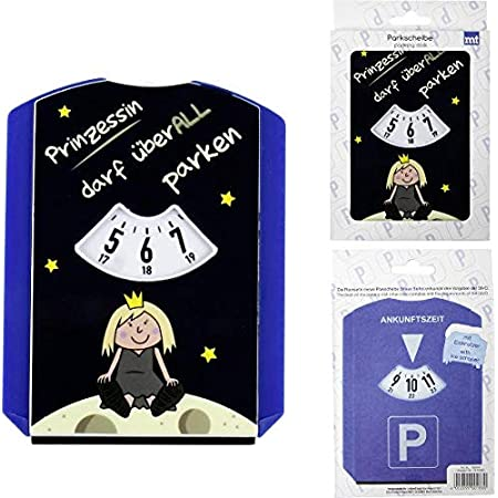 Topshop24you Witzige Parkscheibe Mit Eiskratzer Wasserabzieher Aus Kunststoff Prinzessin Darf überall Parken Auto
