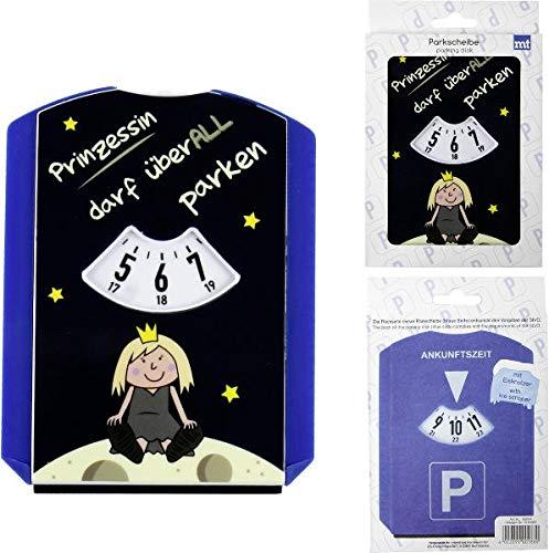 Topshop24you witzige Parkscheibe mit Eiskratzer,Wasserabzieher aus Kunststoff Prinzessin darf überall parken