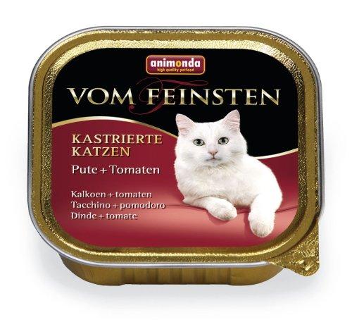 Animonda | Vom Feinsten Kastrierte Katzen Pute & Tomaten | 32 x 100 g