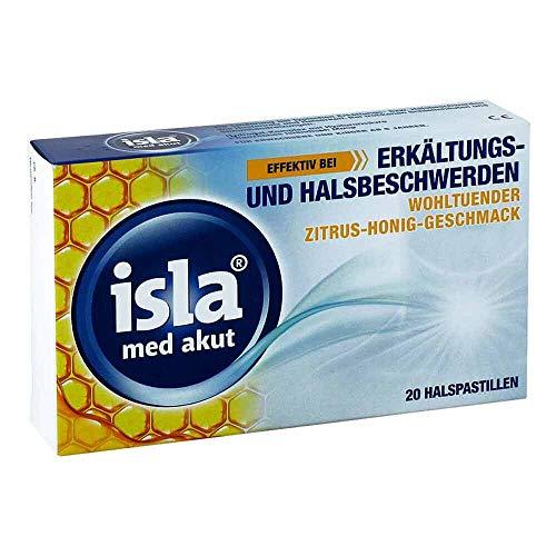 isla med akut Halspastillen Zitrus-Honig-Geschmack, 20 St. Pastillen