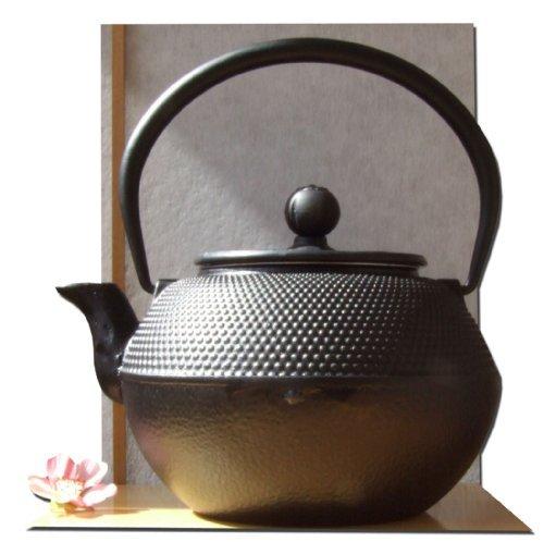 Gifts Of The Orient - Tetera japonesa tipo Tetsubin con tapa (hierro fundido, 1,2L), color negro