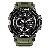 SMAELBand Militärische SportuhrS Shock Resitant Sportuhr für Digitaluhren wasserdichte 50M Army Big Watch für Männer,ArmyGreen