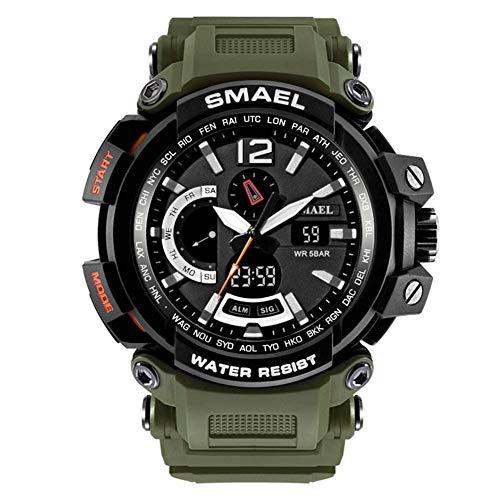 Militäruhren Männer Digital Army Watch wasserdichte 50M Sportuhren S Shock Resistant Große Uhr,E
