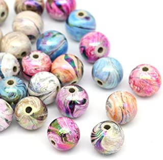 Souarts 8mm 300pcs Multicolor Acrylic Round Ball Loose Beads(1)