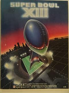 Super Bowl XIII, Official Program, January 21, 1979