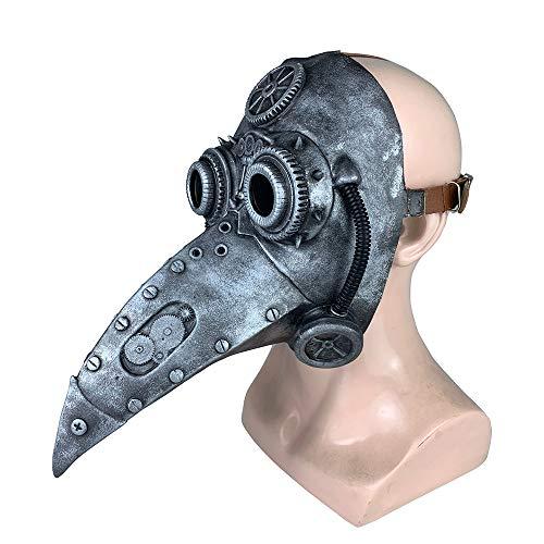 EKUPUZ - Máscara de peste para Halloween, fiesta de Halloween, para Navidad, Halloween, disfraces, punk