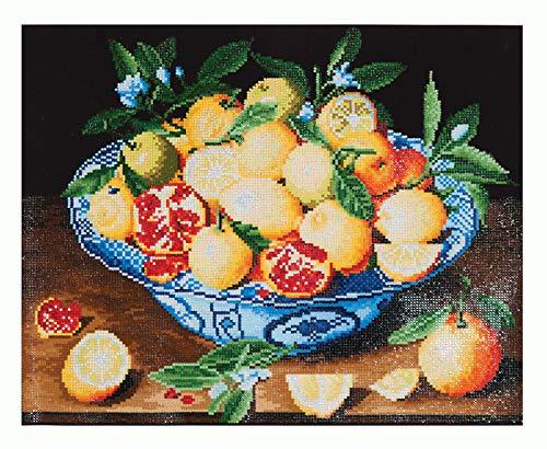 DD10-003 Diamond Dotz Stillleben Obstschale von Hulzdonck, ca. 52 x 42 cm groß, Diamond Painting, Malen mit Diamanten, funkelndes Bild zum Selbstgestalten, für Kinder und Erwachsene