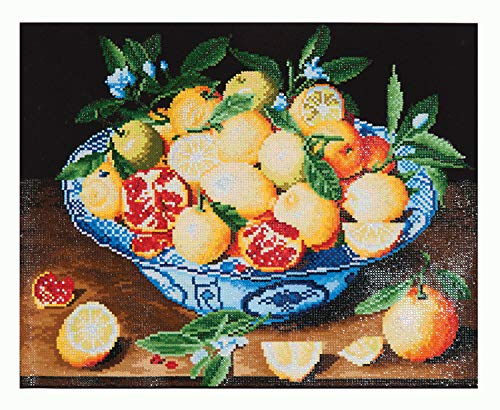 Pracht Creatives Hobby DD10-003 - Diamond Dotz Stillleben Obstschale von Hulzdonck, funkelndes Diamantbild zum Selbstgestalten, ca. 52 x 42 cm groß, Malen mit Diamanten, neuer kreativer Basteltrend