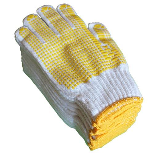 軍手 滑り止め 作業用 黄ボツ 12双 1ダース 紳士用 手袋