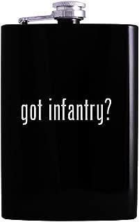 got infantry? - 8oz Hip Alcohol Drinking Flask, Black