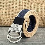 ILSXV Hebilla De Doble Anillo Cinturón para Hombres Cinturón De Calidad Hebilla De Aleación Cinturón...