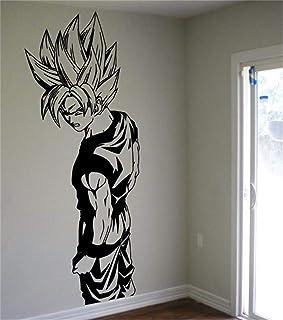 Ewdsqs Dragon Ball Wall Decal Super Saiyan Goku Vinyl Wall Sticker Dragon Ball Z, DBZ Anime Wall Art Sticker for Kids Room Decoration