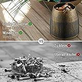 ecooe XL Windaschenbecher Bronze Edelstahl Aschenbecher für Draußen & Innen Groß Metall Tisch Ascher - 2