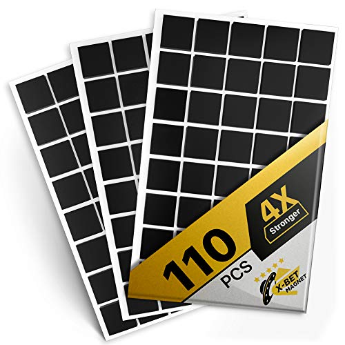 Magnetic Squares - 110 Self Adhesive Magnetic Squares (Each 4/5