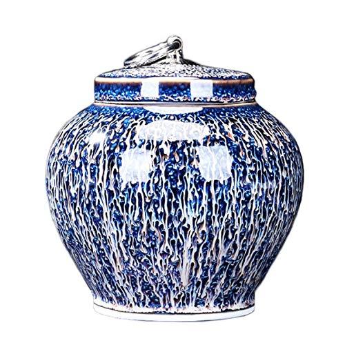 Vorratsdosen Keramik, Kaffeedose Frischhaltedose mit Luftdicht Deckel, Vorratsdose Vorratsgläser Kaffeebehälter Teedosen Küche Aufbewahrungsbox für Tee Kaffee Bohne Zucker Gewürz Nüsse, 500ml, blau