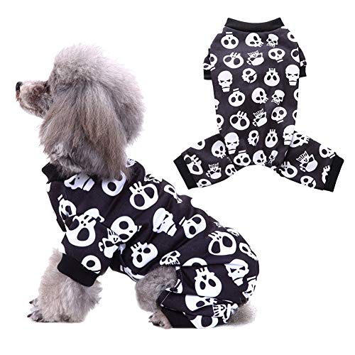 Handfly Disfraces de Disfraces de Perros para Mascotas de Halloween Disfraces Disfraces de Calavera Cachorro Pijamas Monos Fiesta de Halloween Cosplay Ropa Divertida by