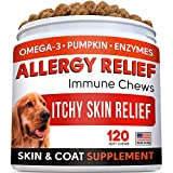 Allergy Relief Dog Treats w/ Omega 3 + Pumpkin + Enzymes +...