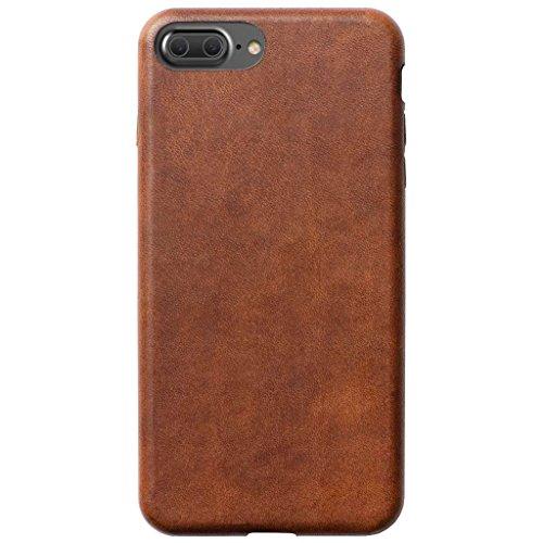 Preisvergleich Produktbild NOMAD Horween Lederhülle für Apple iPhone 8 Plus / 7 Plus,  Braun