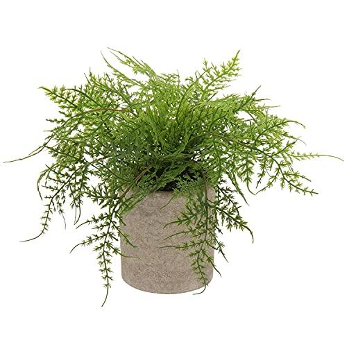 Kunstpflanze Boston Farn Künstliche Pflanzen im Topf Zimmerpflanze Deko Wohnzimmer Schlafzimmer Innen Home Büro Badzimmer Deko