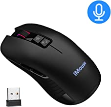 Wireless Mouse, 2.4G Wireless Transmission USB Rechargeable Portable Mobile Recognition Smart Game Mouse Compatible w/Windows 7/8/10