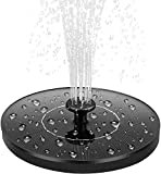Solar Water Fountain 1.4W Circle Garden Solar Water Feature Watering Kit Pump with 5 Attachments Solar Powered Fountain Pump for Birdbath, Pond, Pool, Patio, Lawn and Garden Decoration