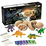 Dinosaur Toys, Dinosaur Egg Dig Kit Kids Gifts - Break Open 12 Unique Dinosaur Eggs and Discover 12 Cute Dinosaurs - Easter Archaeology Science STEM Toys Technology Gifts for Boys Girls Toys