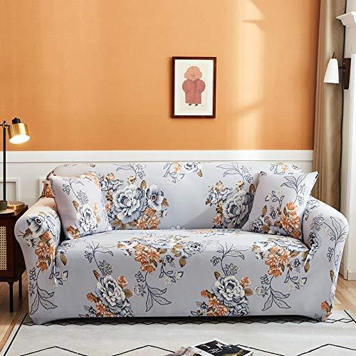 PPMP Funda de sofá elástica para Sala de Estar Funda de sofá elástica Funda de sofá elástica Funda de sillón de Esquina en Forma de L A7 2 plazas