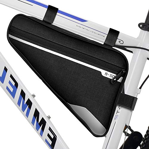 unibelin Fahrradtasche Rahmen, Fahrrad Rahmentasche Wasserdicht Fahrrad Dreiecktasche Reflektierend Fahrradtasche Rahmentaschen ideal für Radsport Bergsteigen Camping Trekking - 29 * 20 * 5cm
