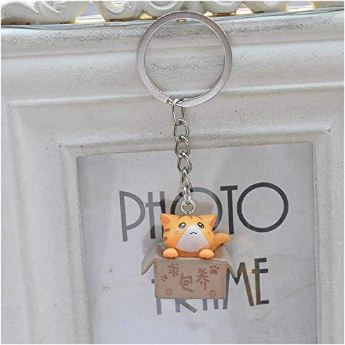 Keychain Anhänger Kreative Nette Katze Schlüsselanhänger Cartoon Chinesische Kiste Katze Schlüsselanhänger Anhänger Für Mädchen Tasche Schlüsselanhänger Geschenke Charme Liebhaber Tasche Anhänger