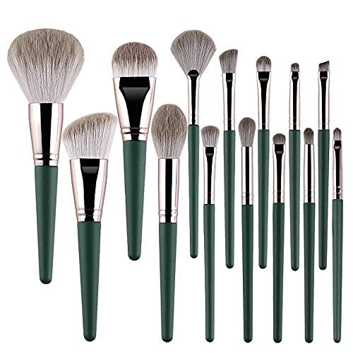Kit de brochas de maquillaje para sombra de ojos y polvo Kit de brochas de mascarada de 14 piezas