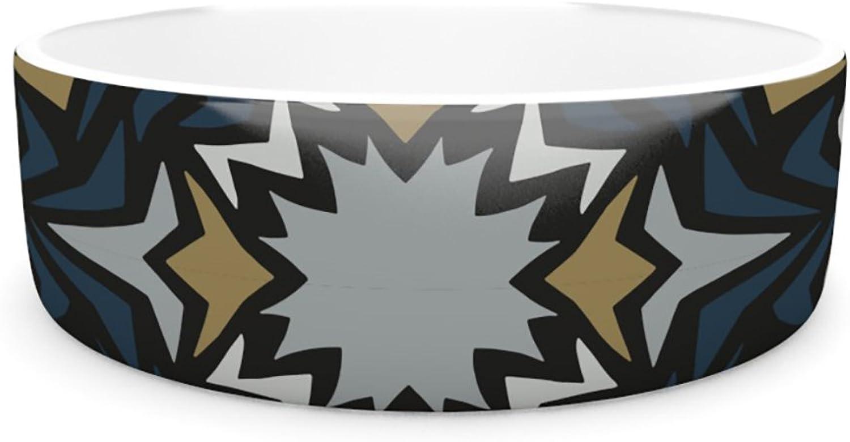 Kess InHouse Miranda Mol Winter Fractals  Pet Bowl, 4.75Inch