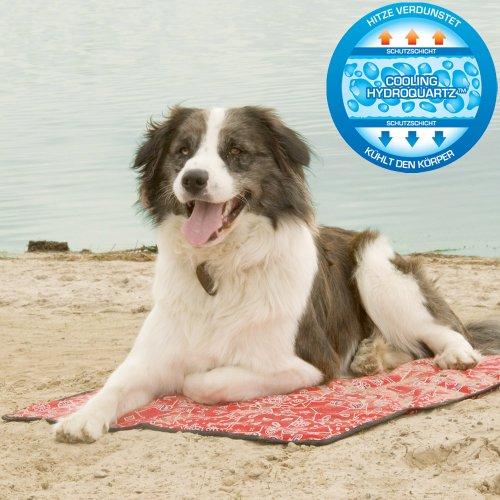 Aqua-Coolkeeper, KühlMATTE 'Red Western', für Hunde und Mensch, 90cm x 80cm