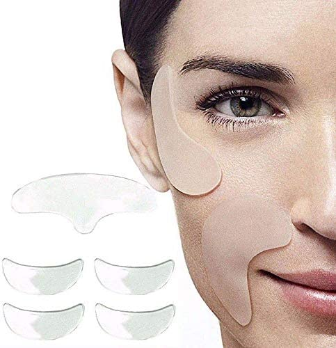 Heyzen Anti Wrinkle Silicon Gel Pad Set Reusable Effective Anti Wrinkle Pad Face Lifting Silicone product image