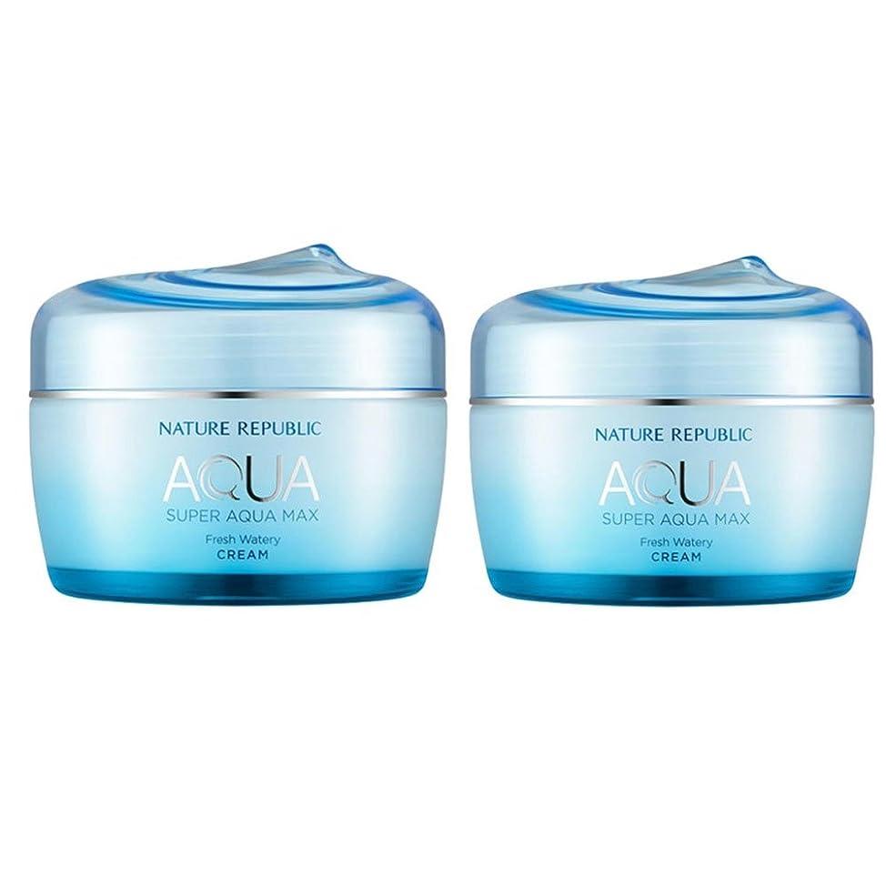 入場料火山学者マトリックスネイチャーリパブリックスーパーアクア?マックスフレッシュ水分クリーム 油性皮膚 80ml x 2本セット、韓国化粧品 Nature Republic Super Aqua Max Fresh Moisture Cream Oily Skin, 80ml x 2ea, Korean Cosmetics [並行輸入品]
