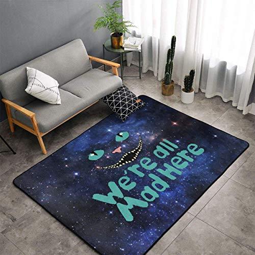 Liz Carter 36X24in Area Rug Door Mat Durable Carpet Absorbs Water Floor Mat We're All Mad Here