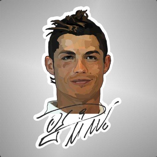 Graphic-lab Aufkleber - Sticker Cristiano Ronaldo Real Madrid Liga Champions League