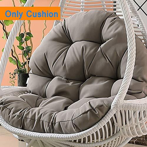 Sedia a dondolo rotondo, multifunzionale, rimovibile e lavabile, per uccelli, a forma di nido d'uovo, cuscino spesso e comodo (senza sedia) B
