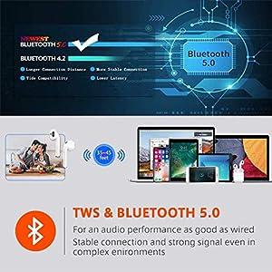 True Wireless Earbuds Bluetooth 5.0 Headphones Wireless Headphone with Charging