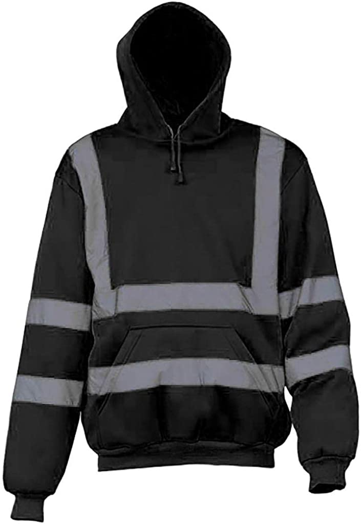 Pullover Hoodies Mens Cotton Blend Novelty Fashion Long Sleeve Sweatshirts Hooded with Kanga Pockets Midweight Loose