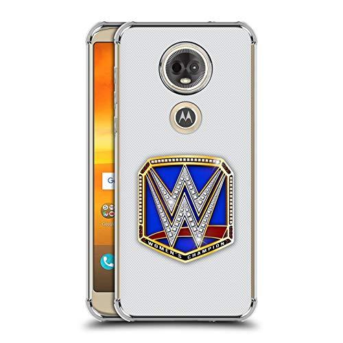 Officiële WWE Smackdown Dames Kampioen Titel Riemen Zilver Shockproof Fender Case Compatibel voor Motorola Moto E5