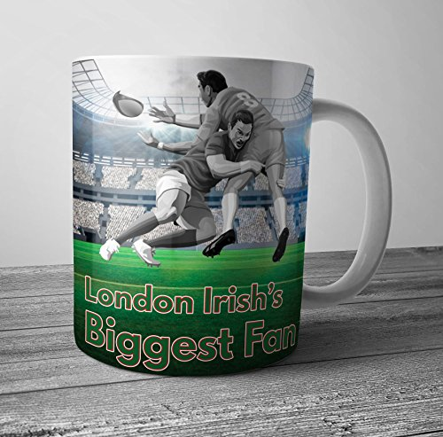 Tasse mit Rugby-Motiv London Irish's Biggest Fan – Geburtstagsgeschenk/Strumpffüller